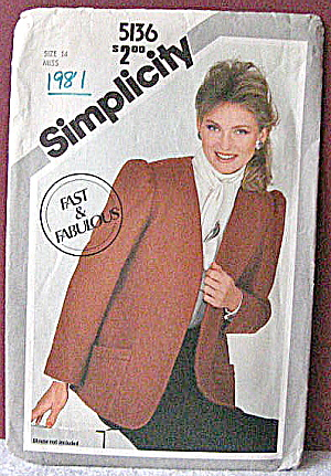 Simplicity 1981  Womens Professional Jacket Pattern (Image1)