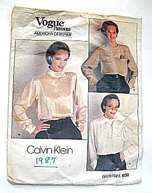 Vintage 1987 Blouse Pattern Designer Calvin Klein  (Image1)