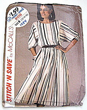 Vintage McCall's 1984 Fall & Winter 2 pc Dress Pattern  (Image1)