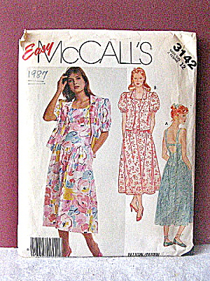 Vintage Mccall's Backless Summer Dress Pattern