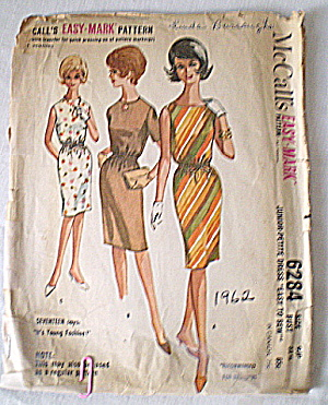 Vintage McCall's 1962 Sheath Dress Pattern (Image1)