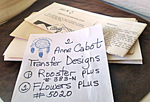 Vintage Anne Cabot Transfer Designs