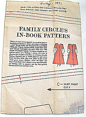 Vintage 1971 Family Circle In-book Ladies Dress Pattern