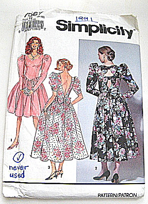 Vintage Simplicity Ladies Party Dress   (Image1)