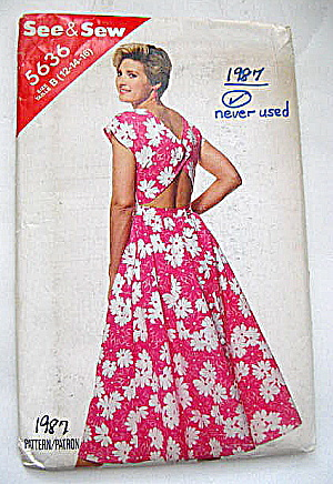 Vintage Butterick 1987 Ladies Dress (Image1)