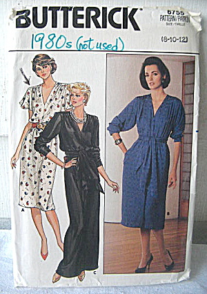 Vintage Butterick Ladies Stylish 2 length Dress Pattern (Image1)