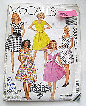 Vintage McCall's Ladies Summer Dress Patterns (Image1)
