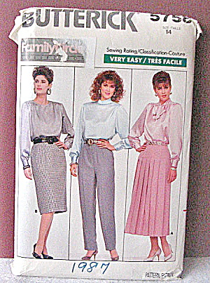 Vintage 1987 Womens Skirt And Slacks Pattern