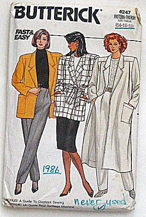 Vintage Butterick Ladies Jacket And Coat Pattern