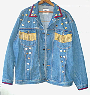 Vintage Ladies Decorated Jean Jacket (Image1)