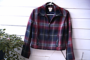 Jacket Vintage Womens Plaid Wool Cropper Ukraine  (Image1)