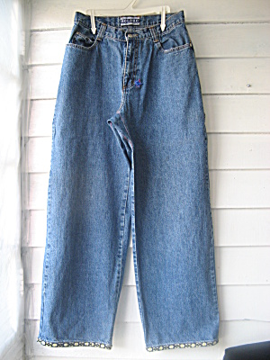 Vintage 1970s Ladies Jean Bellbottoms (Image1)