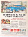 Click here to enlarge image and see more about item ADS-106: Vintage Auto Ads 1950 Hudson,1950 Studebaker