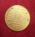 Click to view larger image of Vintage Redeemable coin from Palmolive-Peet Company (Image2)