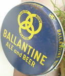 "Click to view larger image of  Ballantine Beer & Ale Vintage Round 12"" Tray (Image4)"