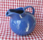 Click here to enlarge image and see more about item CDV-455: Shenango China GALA Blue Pitcher 1950