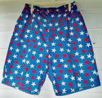Click to view larger image of  Bermuda Shorts Vintage 1955-Red White & Blue w/Stars (Image2)