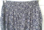 Click to view larger image of Vintage European Cotton Knit Gray and Navy Skirt  (Image3)