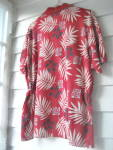 Click to view larger image of Golf Shirt  Ladies Red Flowered 1980 (Image2)
