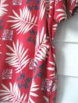 Click to view larger image of Golf Shirt  Ladies Red Flowered 1980 (Image4)