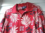 Click to view larger image of Golf Shirt  Ladies Red Flowered 1980 (Image5)