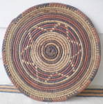 Click here to enlarge image and see more about item FA-832: Vintage Set of 2 West African Large  Hand Woven Mats