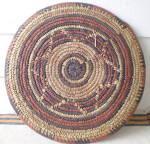 Click to view larger image of Vintage Set of 2 West African Large  Hand Woven Mats (Image2)