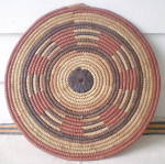 Click to view larger image of Vintage Set of 2 West African Large  Hand Woven Mats (Image3)