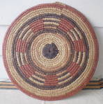 Click to view larger image of Vintage Set of 2 West African Large  Hand Woven Mats (Image4)