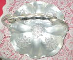 Click to view larger image of Antique 1950s Carved Aluminum Fruit Bowl (Image3)