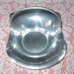 Click here to enlarge image and see more about item FA-916: Antique Aluminum Revere Fruitbowl/Centerpiece Basket