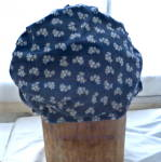 Click to view larger image of  Amish Mennonite Navy Cotton Bonnet Vintage (Image3)
