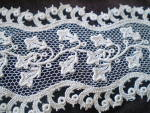 Vintage Hand Detailed Machine Embroidered Needle Lace