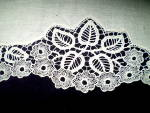 Click to view larger image of  Needle Lace Trim Vintage Off White Handmade (Image2)