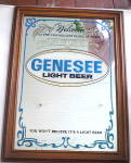 Click here to enlarge image and see more about item M-1002: Vintage Bar Mirror GENESEE