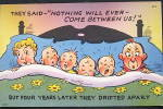 Click here to enlarge image and see more about item PC-320: Comic Vintage Postcard - Between Us