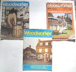 Click here to enlarge image and see more about item PVW-101: Vintage Fine Woodworker Magazines,1971, 1975, 1976