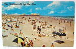 Click to view larger image of Vintage Photocard Beach Showing Hunt's Pier,Wildwood,NJ (Image1)