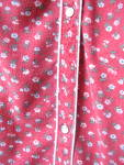 Click to view larger image of Ladies Robe by Violette Vintage 1960s Red CottonFlannel (Image4)