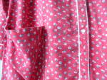 Click to view larger image of Ladies Robe by Violette Vintage 1960s Red CottonFlannel (Image5)