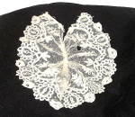 Click here to enlarge image and see more about item VL-768:  Lace Jabot 1860-1875 Ladies Handmade