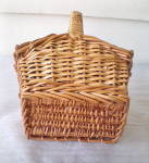 Click to view larger image of Vintage Straw Sewing Basket (Image6)