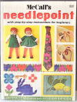 Click here to enlarge image and see more about item VSM-1101: Vintage1955 McCall's Needlepoint Instr/Patterns&Design