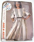 Click to view larger image of Vintage McCall's 1984 Fall & Winter 2 pc Dress Pattern  (Image1)