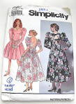 Click to view larger image of Vintage Simplicity Ladies Party Dress   (Image1)