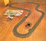 Click here to enlarge image and see more about item VT-1124: Vintage Matchbox Lemans 300 Racing Track w/ 2 Cars