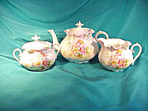 RS PRUSSIA(UM) PUMPKIN TEA SET (EARLY) (Image1)