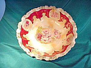 RS PRUSSIA(RM) STIPPLE FLORAL BOWL/MAGENTA (Image1)