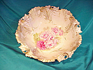 RS PRUSSIA(RM) LEAF MOLD BOWL W/ROSES (Image1)