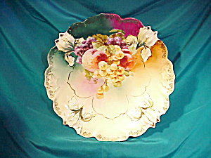 RS PRUSSIA(RM) IRIS MOLD PLATE W/FRUIT (Image1)